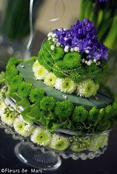 Green purple cake