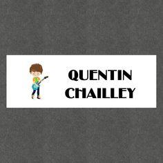 """16 Etiquettes scolaires personnalisées Thème """"Musiciens Garçon"""" : Stickers par creerpourvous"""