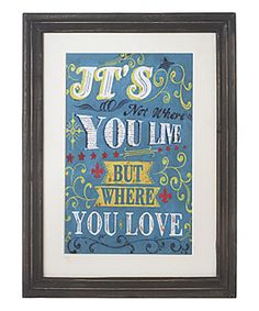 Look at this 'Love' Framed Wall Art on #zulily today!
