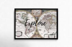 Plakat A3 dla fanów podróży - Posters-Monster - explore, travel poster, travel Explore Travel, A3, Posters, Frame, Etsy, Decor, Picture Frame, Decoration, Poster