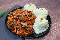 Blog Entry, Japchae, Easy Meals, Appetizers, Yummy Food, Cooking, Simple, Ethnic Recipes, Kitchen