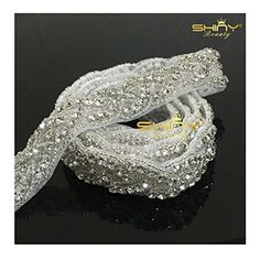 Shinybeauty Rhinstone Lique Belt Wedding Sash Ivory Bridal One Yard Ra027 Http