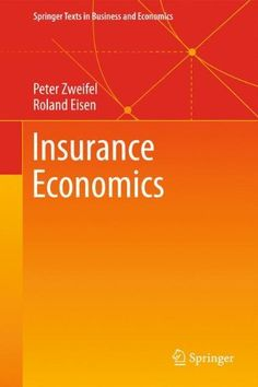 Insurance Economics brings together the economic analysis of decision making under risk, risk management and demand for insurance by individuals and corporations, objectives pursued and management tools used by insurance companies, the regulation of insurance, and the division of labor between... more details available at https://insurance-books.bestselleroutlets.com/business/product-review-for-insurance-economics-springer-texts-in-business-and-economics/