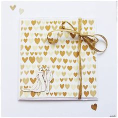 misha_cards / Svadobná pohľadnica so srdiečkami