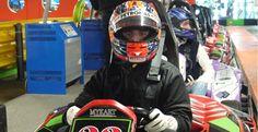 Robert Kubica back behind the wheel of a kart