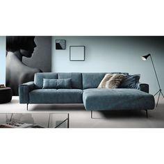 wohnlandschaft in dunkelbraun textil polsterm bel polsterm bel sofas sessel wohn. Black Bedroom Furniture Sets. Home Design Ideas