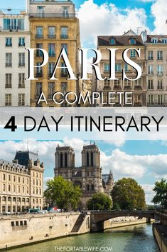 This Paris travel guide covers everything you need to spend 4 days in Paris. From Notre Dame to the Eiffel Tower, my 4 day Paris itinerary is also great for a romantic vacation. Includes Paris travel tips such as French phrases and a map. Paris Travel Guide, Europe Travel Tips, Places To Travel, Travel Info, Travel Ideas, Travel Inspiration, Cheap Travel, Travel Goals, Travel Hacks