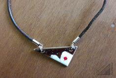 handmade jewel: angles & curves collection, pendant, sterling silver, enamel / χειροποίητο κόσμημα: κρεμαστό, ασήμι, σμάλτο Handmade Silver, Angles, Arrow Necklace, Curves, Jewels, Collection, Jewerly, Full Figured