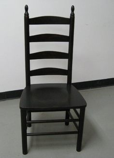 American Ladder Back Dining Room Chair Black 4 Slat Style For Chairs We Offer Wood Seat Only Dimensions