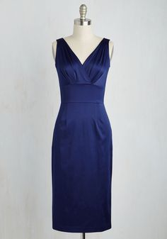 Wiggle This Way Dress. As you stand by the cocktail bar in this midnight blue wiggle dress by Stop Staring!, you cant stop your toes from tapping and your hips from shaking.  #modcloth