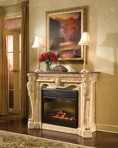 Antique electric fireplaces add a convenience of modern technology while capturing the picturesque styling with old-fashioned charm. Rustic décor is a style that emphasizes natural elements, tones, and materials that create a cozy setting. The purity of white is cleansing, lifting the tone of the room.