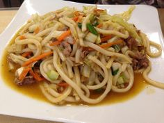 udon noodles green onions pork asian food | Flickr - Photo Sharing!