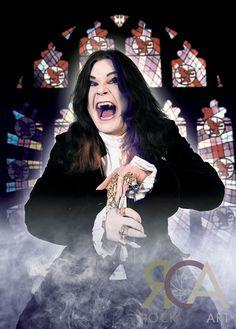 Ozzy Osbourne by Mick Hutson