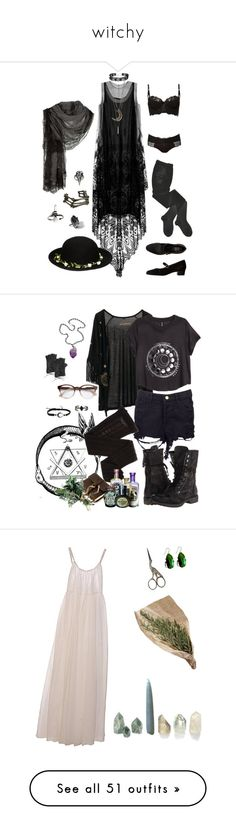 """witchy"" by gardendaze ❤ liked on Polyvore featuring HYD, Faliero Sarti, American Apparel, My Enemy, ASOS, Maison Lejaby, Pamela Love, darkmori, Ali NY and STELLA McCARTNEY"