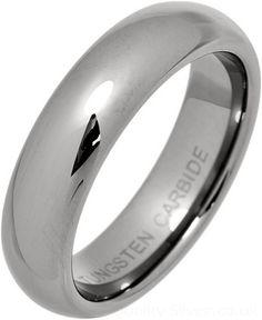 Ladies Tungsten Carbide 5mm Court Ring