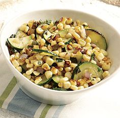 Charred Corn and Zucchini with Basil - This is totally delicious.