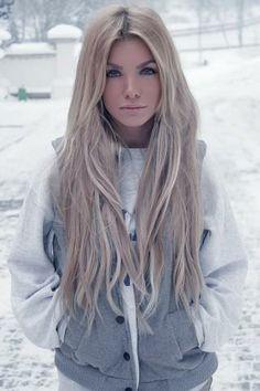 long blonde winter hair