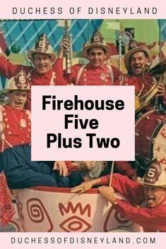 Firehouse Five Plus Two, Disneyland Band, Animation Band Disneyland History, Throwback Thursday, Animation, Park, Parks, Animation Movies, Motion Design