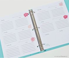 Entrepreneur's Planner (Printable) | Your Pretty Pages: 2 page weekly spread