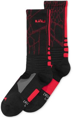 Nike Men's LeBron Hyperelite Basketball Crew Socks #basketballclothes