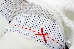 Detalle de saco de carrito para bebé. #modainfantil | nenecanela.com