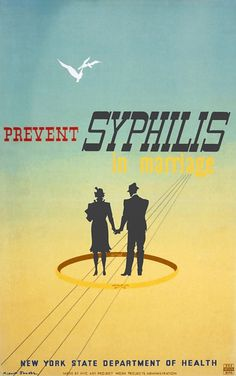 Prevent Syphilis in Marriage - WPA Poster 1936