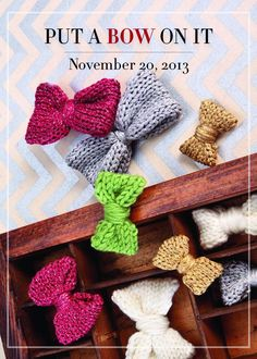 Put a Bow On It: Holiday Knitting for Beginners - Skillshare - cute for the holidays.