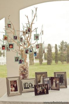 Cute idea to display family photos