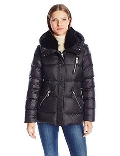 """Andrew Marc brings a luxe addition to your winter lineup with this short down-and-feather filled jacket. Styled with a tipped fox fur collar, this statement puffer instantly provides a dose of day-to-night edge.       Famous Words of Inspiration...""""It is often hard to bear...  More details at https://jackets-lovers.bestselleroutlets.com/ladies-coats-jackets-vests/down-parkas/down-down-alternative-down-parkas/product-review-for-andrew-marc-womens-chloe/"""