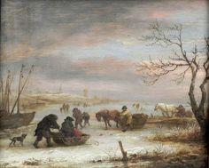 Isaac van Ostade - IJsgezicht (1645)