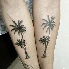 alt kol palmiye ağacı dövmesi forearm palm tree tattoo