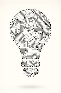 Light Bulb On Circuit Board Clipart vectoriel 185715908 | Getty Images