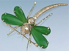Art Deco Hard-stone Dragonfly Brooch / I am a taste-maker & art curator! Contact me I can find it for you.  BusaccaGallery@sbcGlobal.net