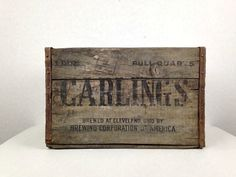 Wood Crate Carlings Wooden Crate Antique by WyrembelskisVintage