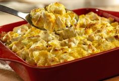 Chicken Salad Casserole - Many of the good ingredients we love about chicken salad are well represented in this unique, easy-to-make casserole. This Chicken Salad Casserole from Campbell's Kitchen is sure to be a favorite among all your casserole recipes. Tuna Casserole, Easy Casserole Recipes, Easy Soup Recipes, Chicken Recipes, Cooking Recipes, Turkey Casserole, Campbells Chicken Casserole, Dinner Recipes, Turkey Recipes