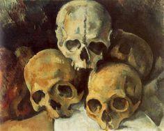 Pirâmide de crânios...Paul Cézanne