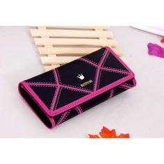 2017 geometric women's wallet Crown money phone bag Leather lady Wallet Purse Female Card Holder Clutch Carteira Feminina LCS-94