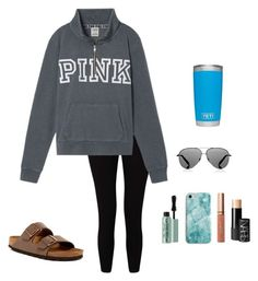 """""""I've worn this outfit so much"""" by sonyahills on Polyvore featuring Miss Selfridge, Victoria's Secret, Birkenstock, Too Faced Cosmetics, Victoria Beckham, Recover, tarte and NARS Cosmetics"""