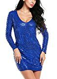 #10: ACEVOG Women's V Neck Long Sleeve Sequined Cocktail Party Club Evening Mini Dress #Shop wide selection of #women #dresses at http://buysdresses.com #ladies #fashion # beautiful #nice #iwantit #Clothing #Accessories #Jewel #Special #Occasion dress Night Out dress Cocktail dress Casual dress Wear to Work dress Sweater Dresses Wedding dresses