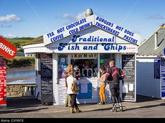 Fish And Chips Stand At The Seaside - West Bay, Bridport, Dorset, Uk Stock Photo, Picture And Royalty Free Image. Pic. 51014300