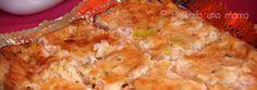 Quiche de pavo, queso y puerros
