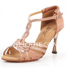 Dance+Shoes+-+$38.99+-+Women's+Satin+Heels+Sandals+Latin+Wedding+Party+With+Rhinestone+T-Strap+Dance+Shoes+(053025579)+http://jjshouse.com/Women-S-Satin-Heels-Sandals-Latin-Wedding-Party-With-Rhinestone-T-Strap-Dance-Shoes-053025579-g25579