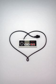 Gamer love - for someone who truly loved Nintendo and such I think this would be cool as a Tattoo. Haha