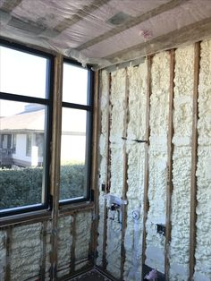 Marvelous Spray Foam Insulation On The Exterior Walls With Dense Pack Insulation  Between Floors For Sound Proofing