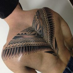 Men back tattoos Tribal Eagle Tattoo, Tribal Tattoos, Strong Tattoos, Black Tattoos, Throat Tattoo, Samoan Tattoo, Polynesian Tattoos, Back Tattoos For Guys, Geniale Tattoos