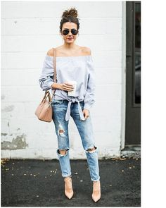 Outstanding Outfits with Boyfriend Jeans #Fashion