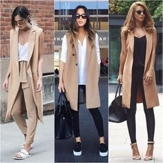 How to wear long vests Long Vest Outfit, Long Sweater Outfits, Vest Outfits, Fall Outfits, Casual Outfits, Cute Outfits, Long Cardigan, Look Fashion, Autumn Fashion