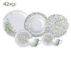 Jogo de Jantar em Porcelana Versa Blumen - para 06 Pessoas