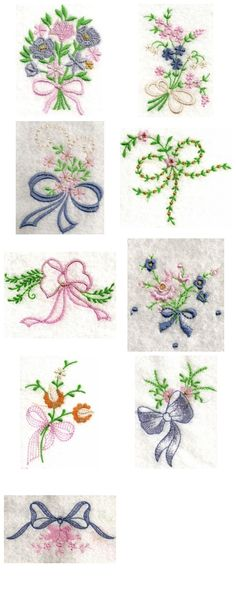 Linen Bows Embroidery Machine Design by sick