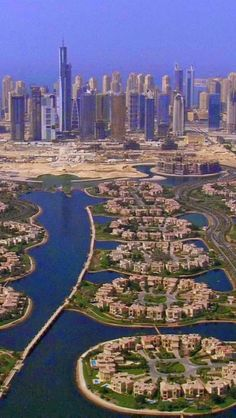 #travel The Palm Islands are two artificial islands in#Dubai, United Arab Emirates in the shape of palm trees. The Belgian and Dutch dredging and ma...